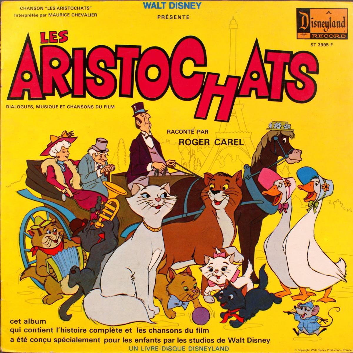 Les Aristochats - Livre - disque 33 Tours - FaceA