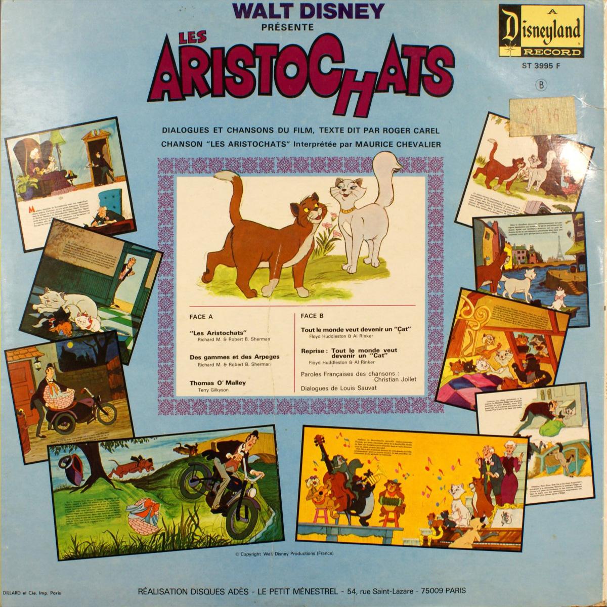 Les Aristochats - Livre - disque 33 Tours - Face B