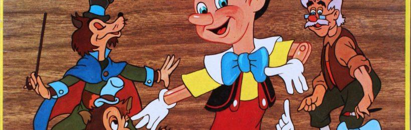 Livre-Disque 33 tours - Pinocchio - Face A - Walt Disney