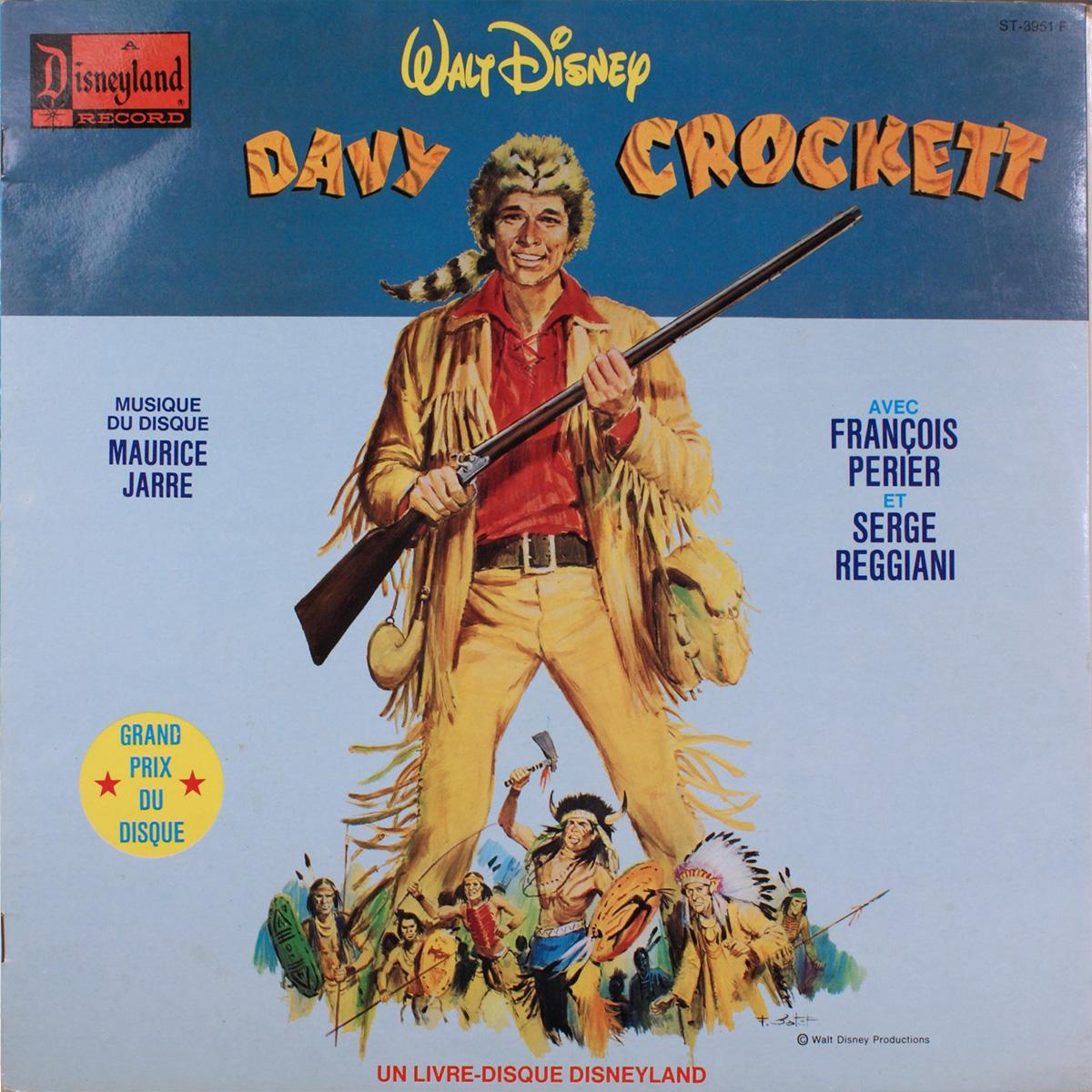 Livre-Disque  Davy Crockett Disneyland Record - Face A