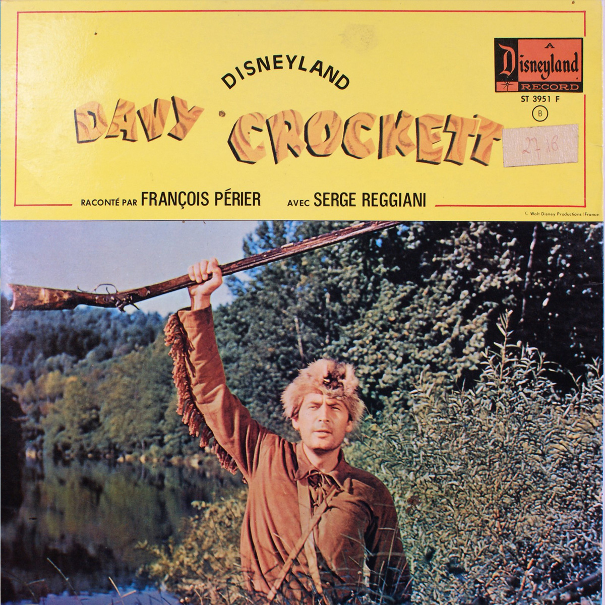 Livre-Disque  Davy Crockett Disneyland Record - Face B
