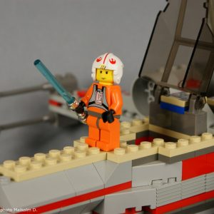 Luke détail - Set Lego Star Wars X-Wing (réf: 7140) de 1999