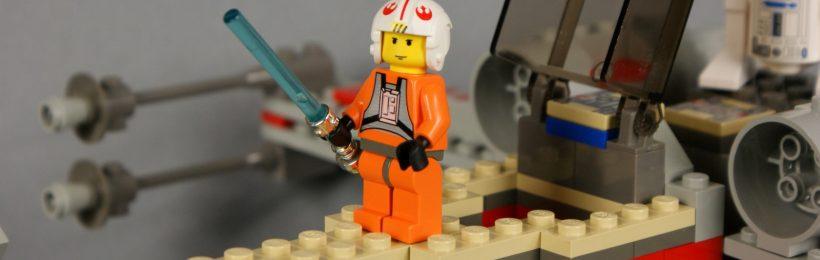Luke détail - Set Lego Star Wars X-Wing (réf: 7140) de 1999