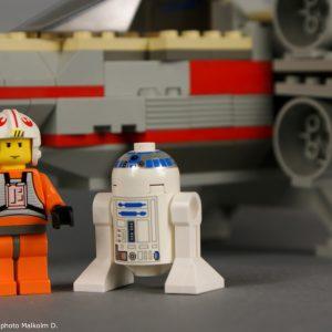 Luke et R2-D2 détail - Set Lego Star Wars X-Wing (réf: 7140) de 1999
