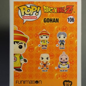 Figurine Pop! n°106 - Gohan - Dragon Ball Z - Boîte dos