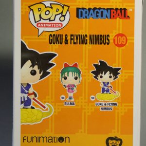 Figurine Pop! n°109 - Goku - Dragon Ball - Boîte dos
