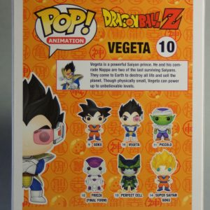 Figurine Pop! n°10 - Vegeta - Dragon Ball Z -Boîte dos